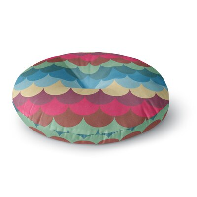 Tobe Fonseca Colorful Mermaid Pattern Digital Round Floor Pillow Size: 26 x 26