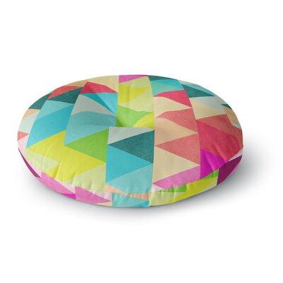 Tobe Fonseca Bubblegum Triangles Pattern Digital Round Floor Pillow Size: 23 x 23