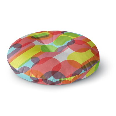 Tobe Fonseca Bubble Burst Pattern Digital Round Floor Pillow Size: 23 x 23