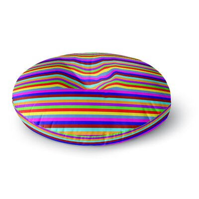 Trebam Bombon Rainbow Stripes Round Floor Pillow Size: 23 x 23