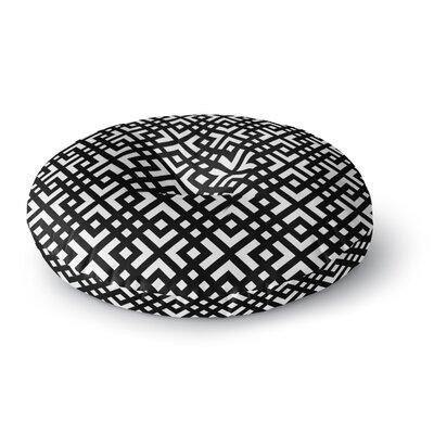 Trebam Dijagonala Geometric Round Floor Pillow Size: 26 x 26