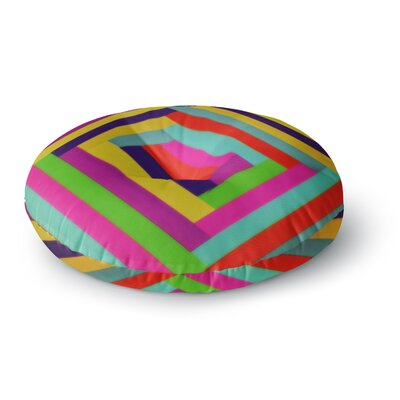 Trebam Nakriv Rainbow Abstract Round Floor Pillow Size: 26 x 26
