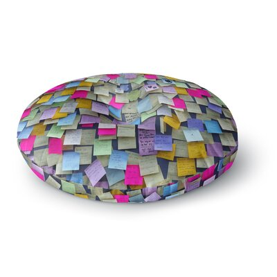 Trebam Respekt Rainbow Paper Round Floor Pillow Size: 23 x 23
