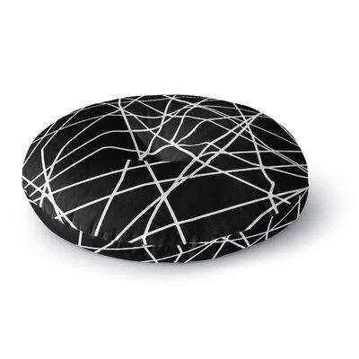 Trebam Paucina Crazy Lines Round Floor Pillow Size: 26 x 26