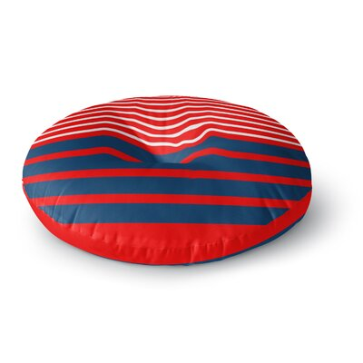 Trebam Nauticki Red Lines Round Floor Pillow Size: 23 x 23