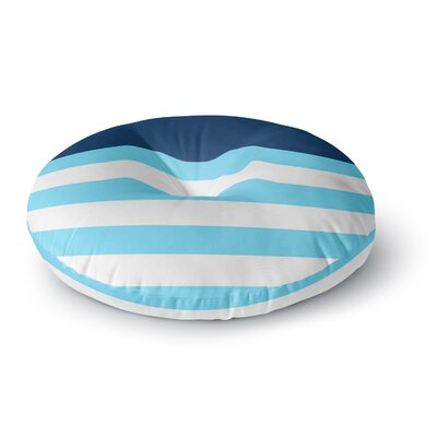 Trebam Nauticki Blue Round Floor Pillow Size: 26 x 26