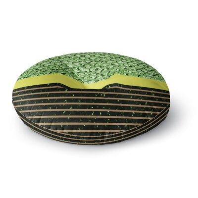 Trebam Stablo Abstract Round Floor Pillow Size: 23 x 23