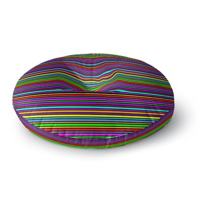 Trebam Kolor Stripes Round Floor Pillow Size: 26 x 26