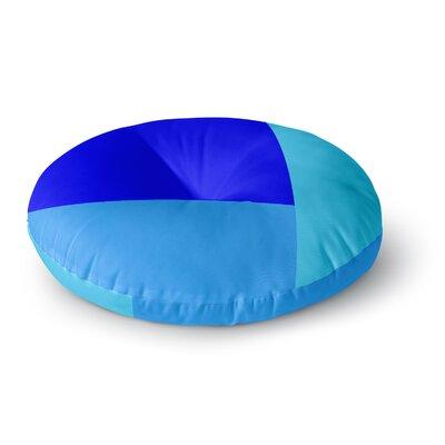 Trebam Bluz V.3 Geometric Round Floor Pillow Size: 26 x 26