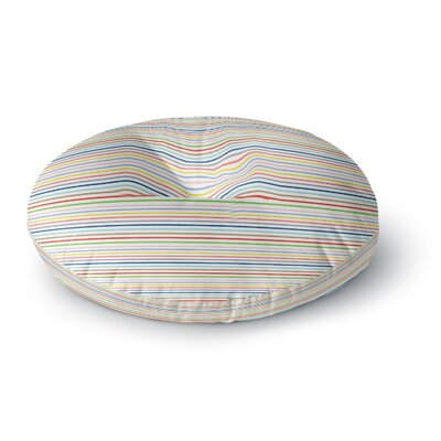 Trebam Pruge Stripes Round Floor Pillow Size: 26 x 26
