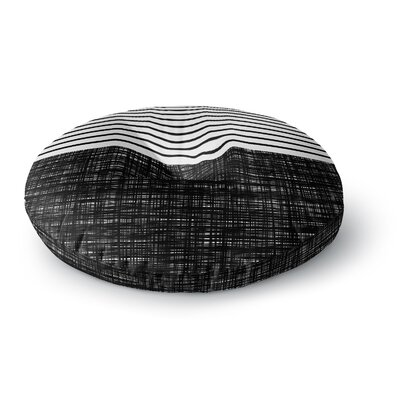 Trebam Platno with Black Stripes Round Floor Pillow Size: 26 x 26