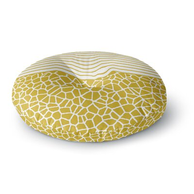 Trebam Staklo Gold Digital Round Floor Pillow Size: 23 x 23