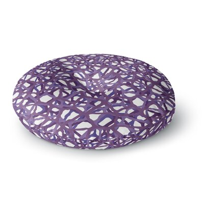 Trebam Vino Modern Vector Round Floor Pillow Size: 26 x 26