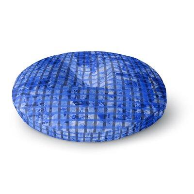 Trebam Plavet Modern Vector Round Floor Pillow Size: 26 x 26
