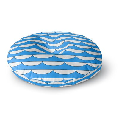 Trebam Valovi V.3 Digital Round Floor Pillow Size: 23 x 23