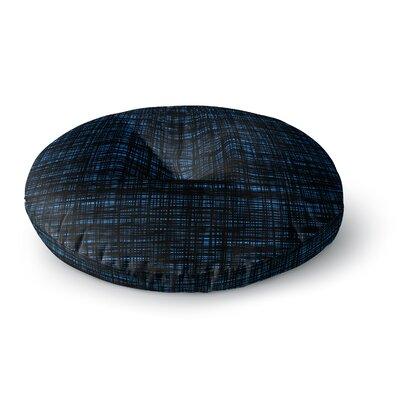 Trebam Platno Black and Blue Digital Round Floor Pillow Size: 26 x 26