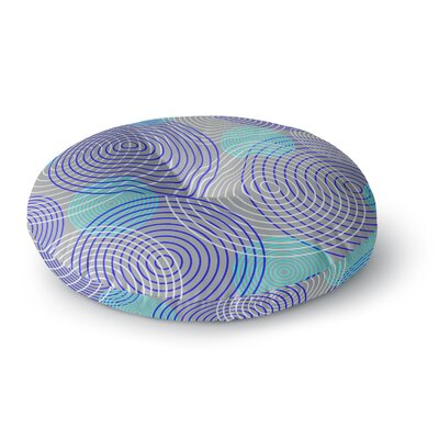Trebam Krugovi Gray Digital Round Floor Pillow Size: 23 x 23