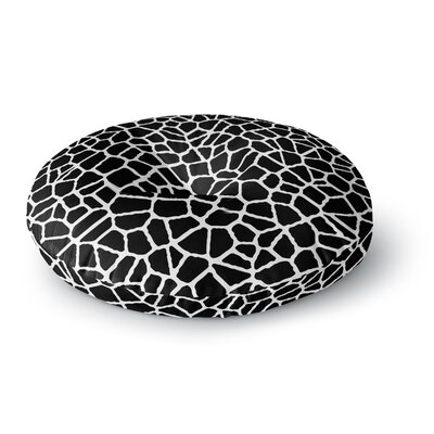 Trebam Staklo Digital Round Floor Pillow Size: 26 x 26