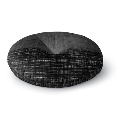 Trebam Platno Gray Digital Round Floor Pillow Size: 26 x 26