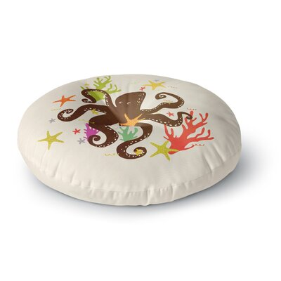 Strawberringo Friends Around the Sea Octopus Round Floor Pillow Size: 23 x 23