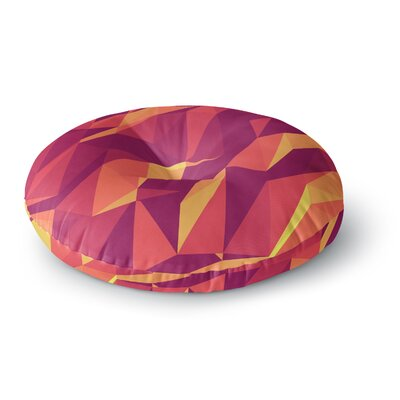 Strawberringo Abstract Mountains Abstract Round Floor Pillow Size: 23 x 23