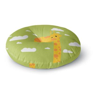 Strawberringo Baby Giraffe Round Floor Pillow Size: 23 x 23