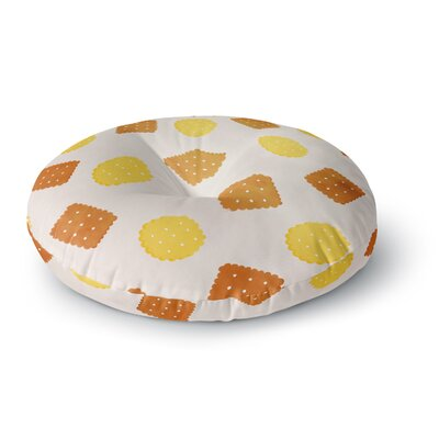 Strawberringo Do You Love Biscuits? Round Floor Pillow Size: 23 x 23