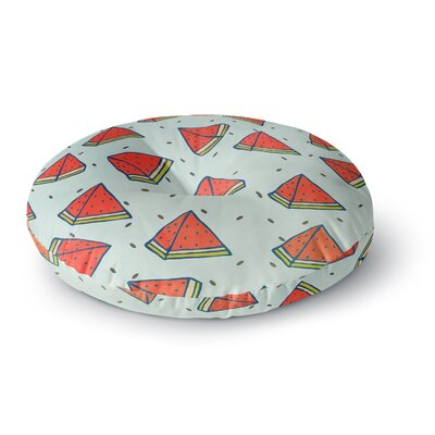 Strawberringo Watermelon Pattern Summer Love Fruit Food Round Floor Pillow Size: 23 x 23