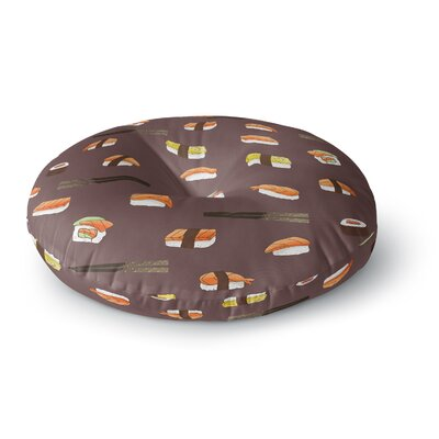 Strawberringo Sushi Pattern Round Floor Pillow Size: 26 x 26