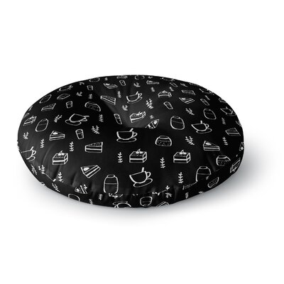 Strawberringo Coffee Shop Food Round Floor Pillow Size: 26 x 26
