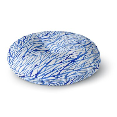 Strawberringo Branches Round Floor Pillow Size: 26 x 26