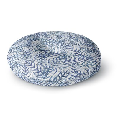 Strawberringo Dark Blue Round Floor Pillow Size: 23 x 23