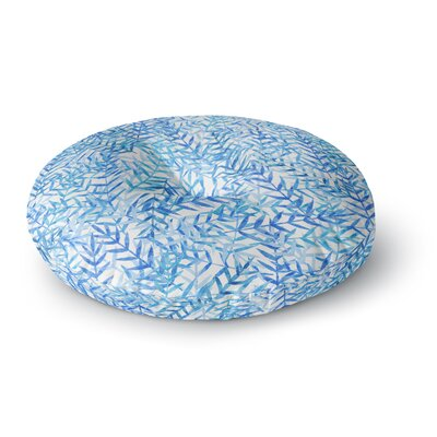 Strawberringo Leaves Round Floor Pillow Size: 26 x 26