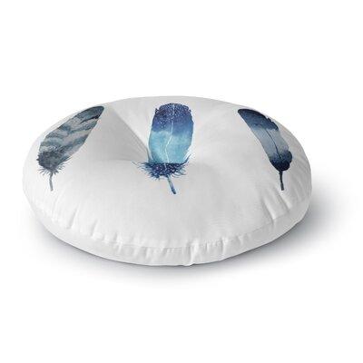 Strawberringo Three Feathers Round Floor Pillow Size: 23 x 23