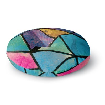 Theresa Giolzetti Stain Glass 2 Round Floor Pillow Size: 23 x 23