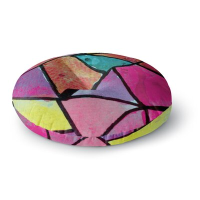 Theresa Giolzetti Stain Glass 3 Round Floor Pillow Size: 23 x 23