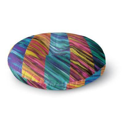 Theresa Giolzetti Set Stripes I Round Floor Pillow Size: 23 x 23