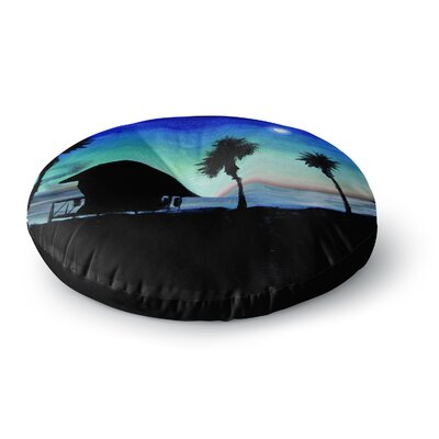 Theresa Giolzetti Carlsbad State Beach Round Floor Pillow Size: 26 x 26