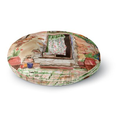 Theresa Giolzetti Tuscan Door Round Floor Pillow Size: 26 x 26