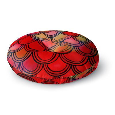 Theresa Giolzetti Dragon Tail Round Floor Pillow Size: 26 x 26