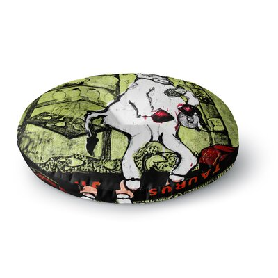 Theresa Giolzetti Taurus Round Floor Pillow Size: 26 x 26