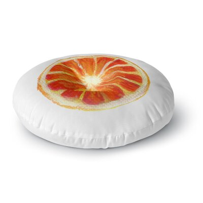 Theresa Giolzetti Grapefruit Round Floor Pillow Size: 23 x 23