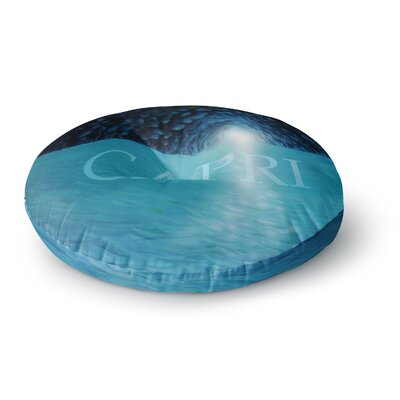 Theresa Giolzetti The Blue Grotto of Capri Round Floor Pillow Size: 26 x 26