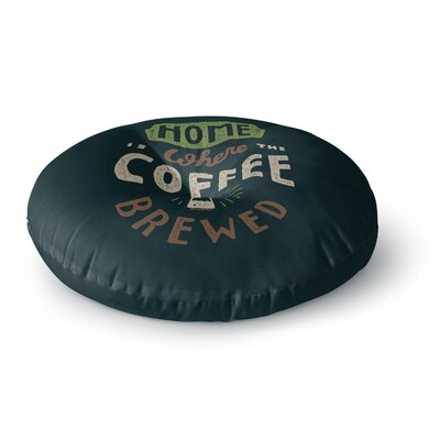 Tatak Waskitho Home is Where Vector Food Round Floor Pillow Size: 26 x 26