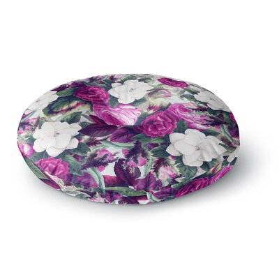 83 Oranges Exotic Flora Floral Painting Round Floor Pillow Size: 26 x 26