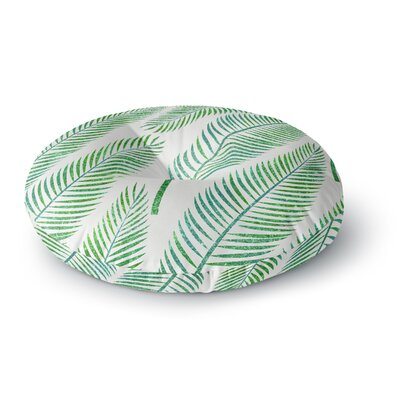 83 Oranges Green Palm Illustration Round Floor Pillow Size: 23 x 23