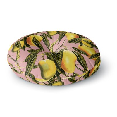 83 Oranges Hello Sweetness Illustration Round Floor Pillow Size: 26 x 26