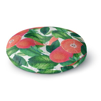 83 Oranges Forbidden Fruit Digital Round Floor Pillow Size: 26 x 26
