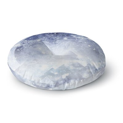 Ulf Harstedt Even Mountains Get Cold Round Floor Pillow Size: 23 x 23