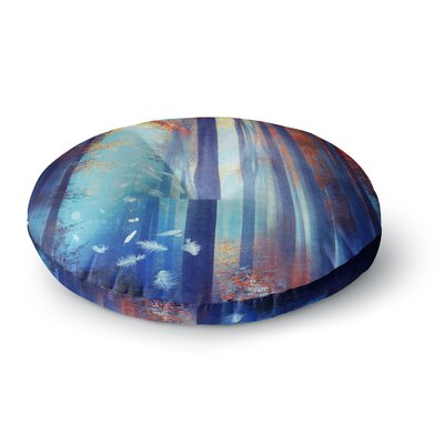 Viviana Gonzalez Dreams in Blue Trees Round Floor Pillow Size: 26 x 26